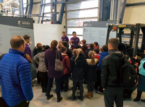 Hemshill School students visiting the ATC