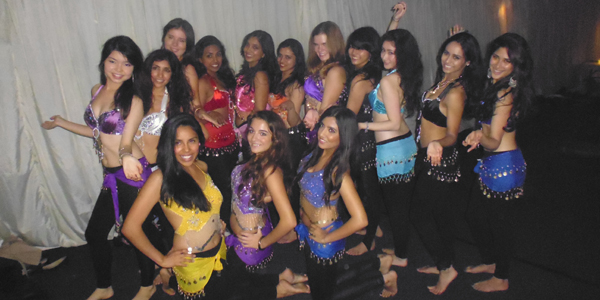 Miku (far left) with the Belly Dance society