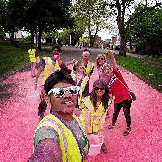 Taking part in the Rainbow charity run