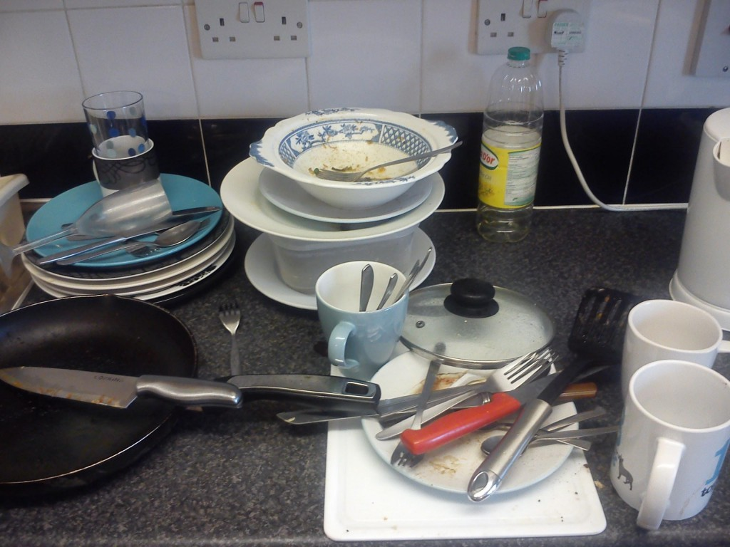(Smallest the dirty dish pile has been in months)