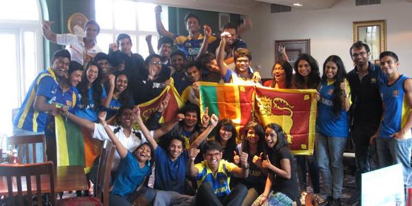 Having fun with the Sri Lankan Society