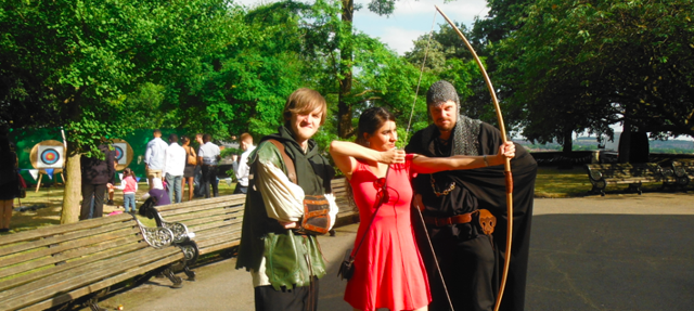 Archery with Robin Hood at the Sheriff of Nottingham's Garden Party