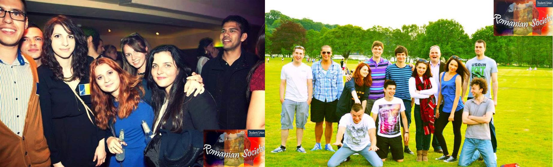The Romanian Society enjoying life at Nottingham