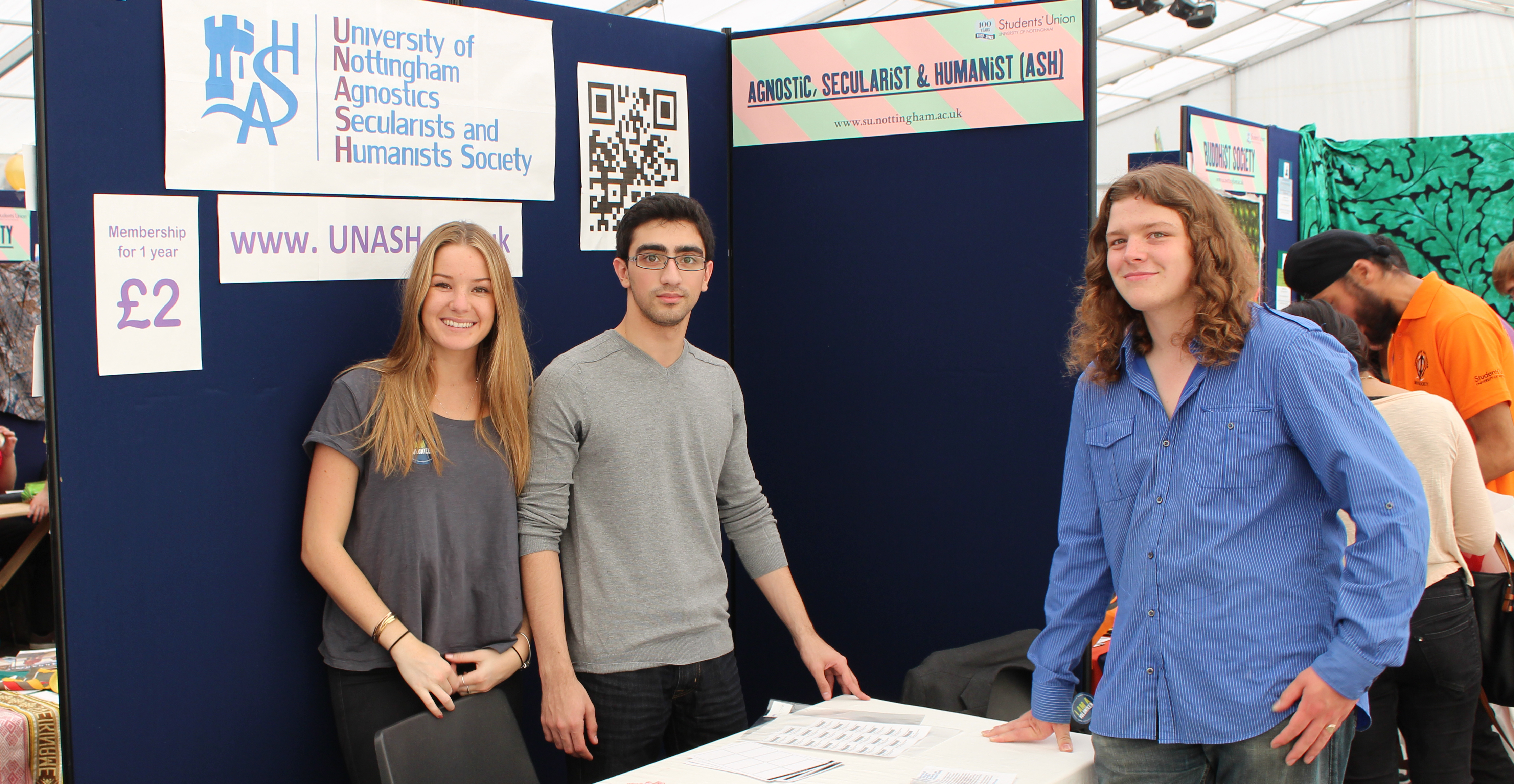 University of Nottingham Agnostics, Secularists and Humanists Society (UNASH) at the Welcome Fair