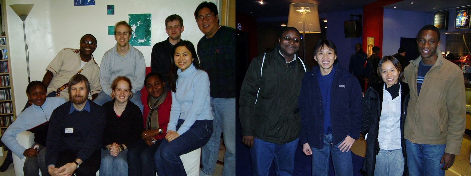 Nana and other international students socialising in Nottingham