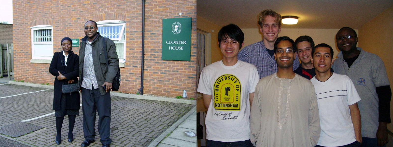 Nana with housemates and friends at Cloister House student accommodation in Nottingham
