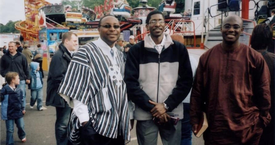 Nana with friends Demmi and Kola at Nottingham's Goose Fair