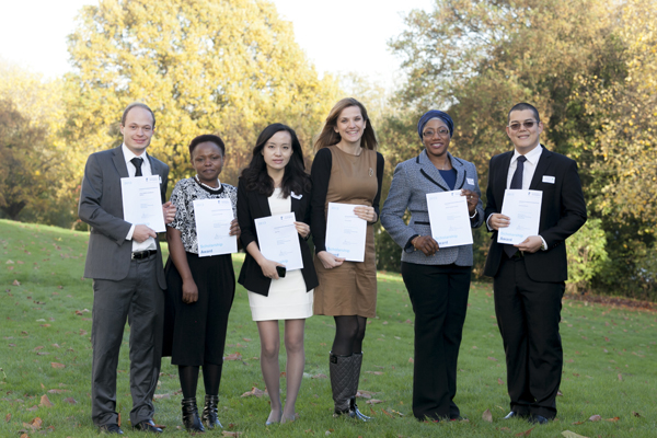 Ira Paulo Pozon with the other Chevening scholars at the 2013 scholarships celebration event