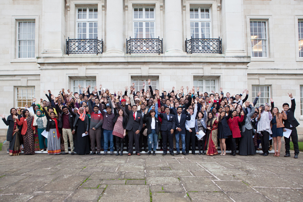 2014 international scholarship winners outside the Trent Building