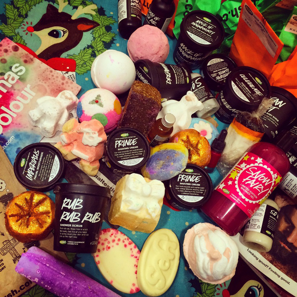 A selection of Lush products