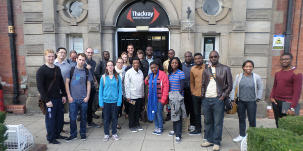 With coursemates at the Thackray Medical Museum