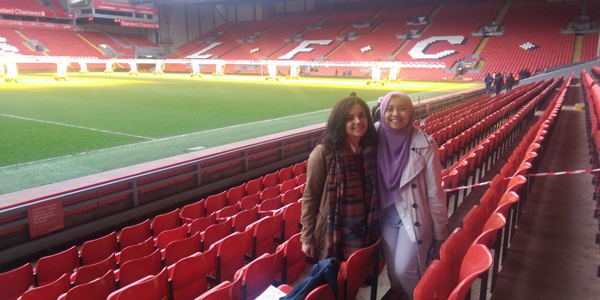 International students in Anfield
