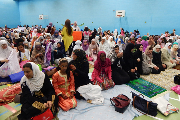 Eid prayer in Nottingham