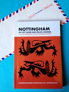 The Nottingham travel notebook my host mum in the USA gave me
