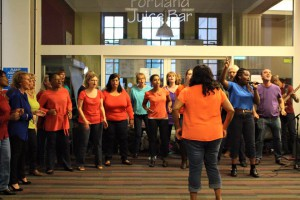 Gospel choir performance