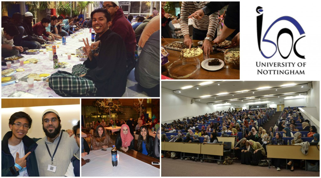A collage of Islamic Society events