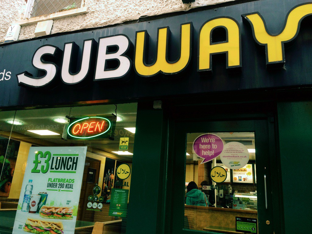 Halal Subway in the city