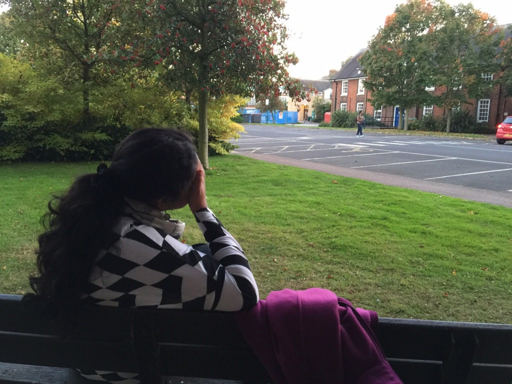 Sharing a moment at Sutton Bonington
