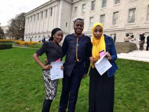 Pharmacists from Africa... Blessing (Zimbabwe), Adeela (Sudan) and Myself (Nigeria)
