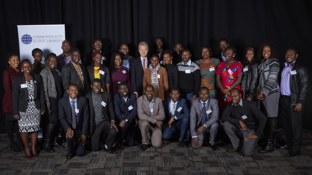 Commonwealth Scholars from Uganda at the Commonwealth Scholarship Commissions' Welcome Event for Scholars, held at The University of Nottingham in November 2015. Photo by the Commonwealth Scholarship Commission.
