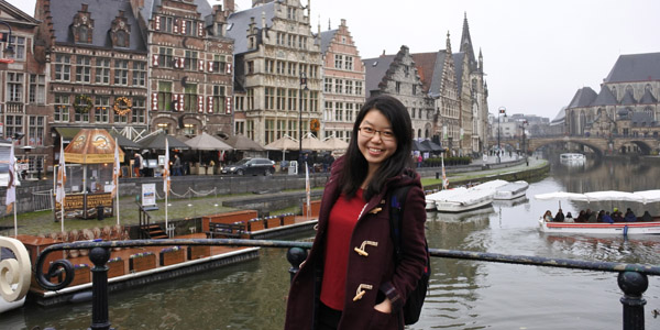 In her free time, international student Hazel loves travelling around Europe