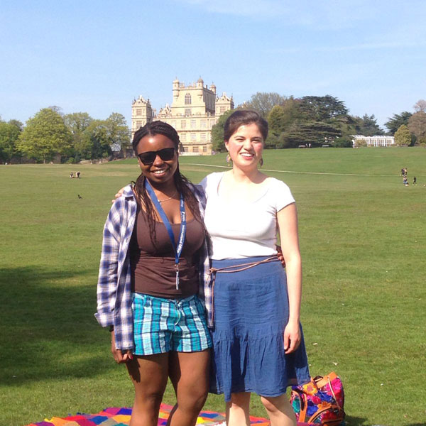 International student at Wollaton Hall