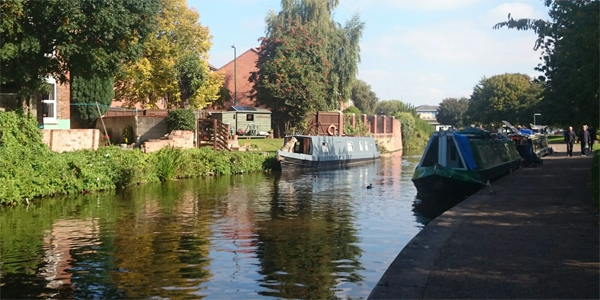 You can have a nice walk along the canal side