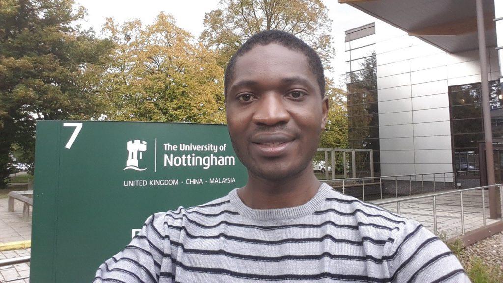 Sunday while studying at Nottingham