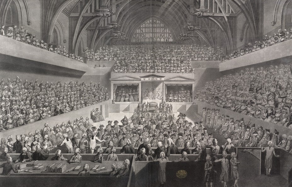 The trial of Warren Hastings in Westminster Hall (1789)