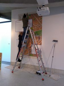 Installing the back-wall map graphic