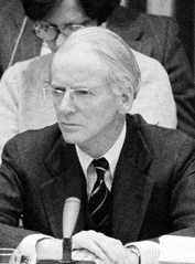 Photograph of Johan Kaufmann, taken at a UN Industrial Development Organization (UNIDO) conference, 1974