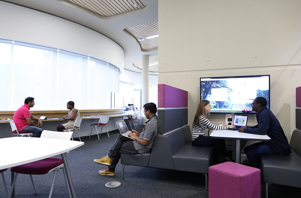 Students in George Green Library