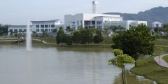 Malaysia campus across the lake