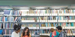 Students in a University library