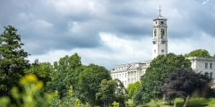 View of Trent Building from Highfields Lake, University Park