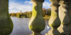 Our sense of place: Views of Trent Building over Highfields lake