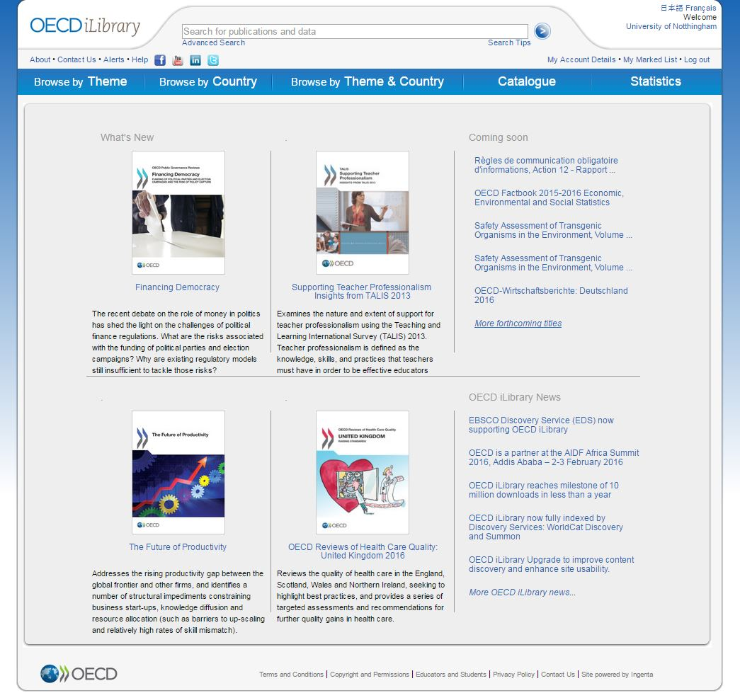 oecd - Library Matters