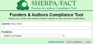 SHERPA FACT search box