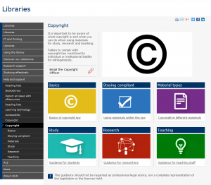 Copyright webpages