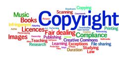 Copyright tag cloud