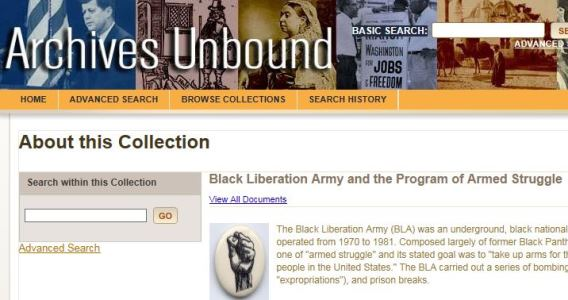 Black Liberation Army and the Program of Armed Struggle