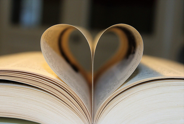 Bibliotherapy - picture of book and heart