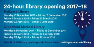 24/7 library opening 2017-18