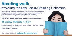 Reading Well event 1 March