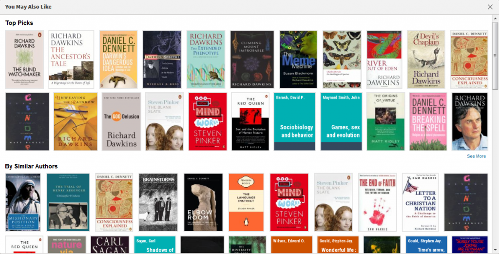 Related reading more books option