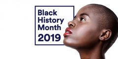 Black History Month 2019 - image of a black woman with a shaved head