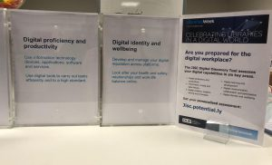 Libraries Week Digital Discovery Tool posters and voting boxes.