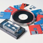 Floppy discs, cassette tapes and film tape