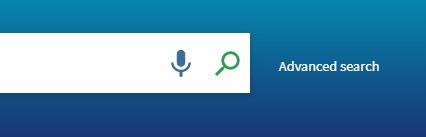Microphone icon in the NUsearch search box