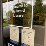 Hallward Library entrance